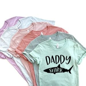 Daddy Shark Father's Day Men's Unisex Graphic Tee